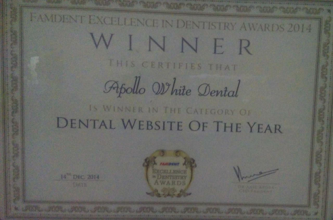Best Dental Website Of The Year – Famdent Excellence In Dentistry Awards 2014