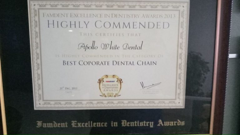 Best Corporate Dental Chain – Famdent Excellence in Dentistry Awards 2013 & 2014