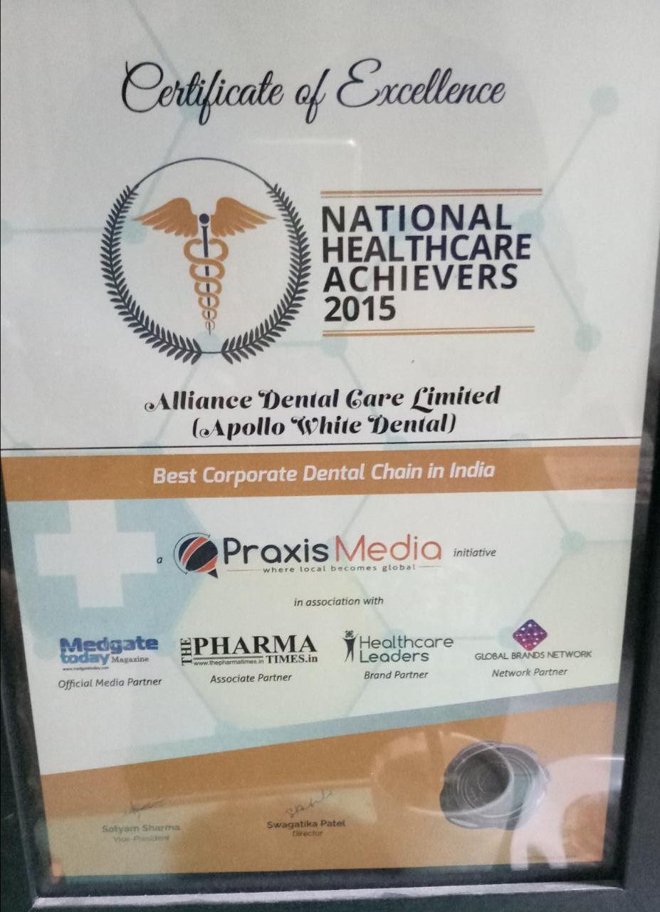 Best Dental Hospital – Patient Service Excellence – Prime Time National Dental Excellence Awards 2014