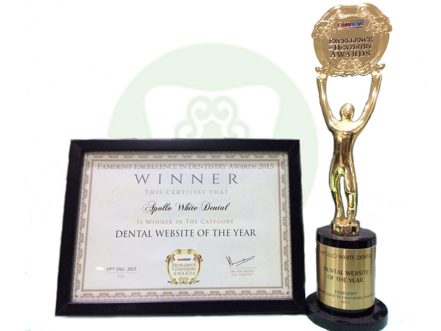 Best Dental Website Of the Year – Famdent Excellence In Dentistry Awards 2015