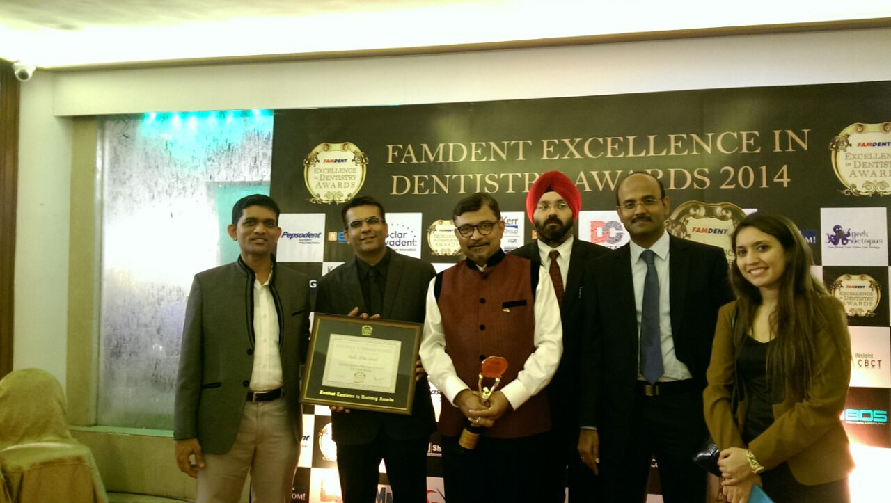 Team Apollo White Dental Winning Many Awards at Famdent Awards for Excellence in Dentistry 2014