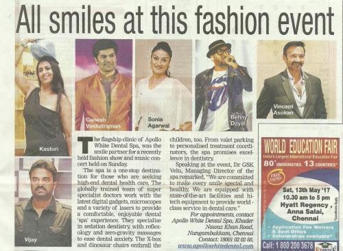 Apollo White Dental Fashion Fest - Times of India