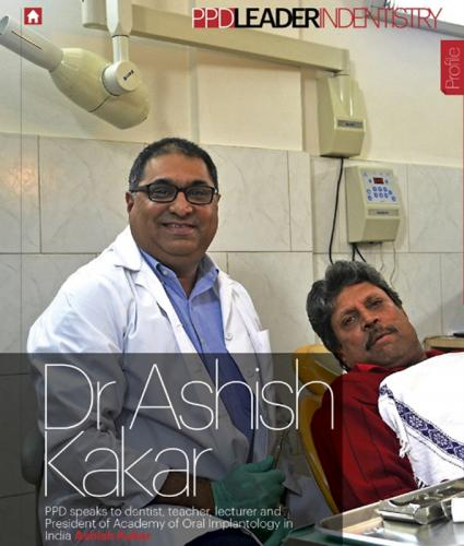 Cricketer Kapil Dev getting treated at Apollo White Dental - Delhi