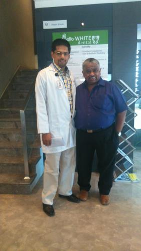 Our Consultant Endodontist & Laser Dental Care Specialist Dr. Arun K Velu With Chef Damu