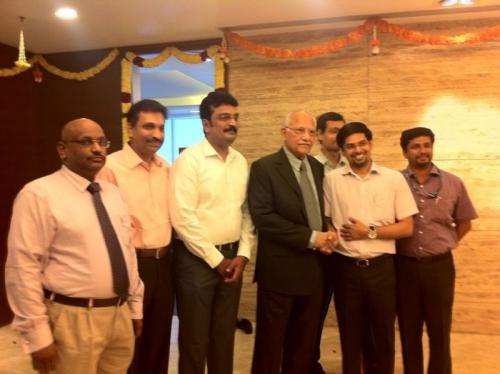 Apollo White Dental's consultants with our beloved Chairman Dr. P C Reddy